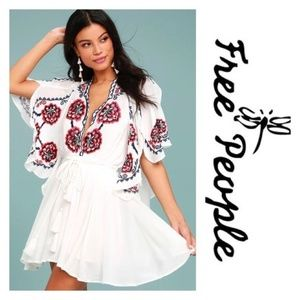 Free People Cora Embroidered Mini Dress